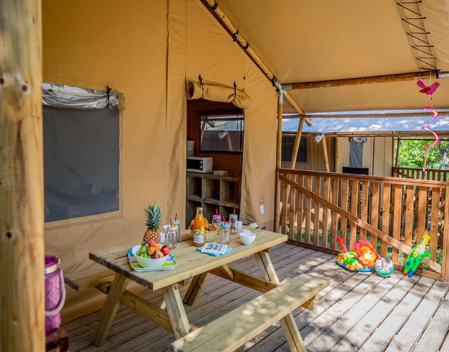 Accommodation - Tent Ciela Nature Lodge - 40M² - 2 Bedrooms - Terrace - Camping Le Pommier