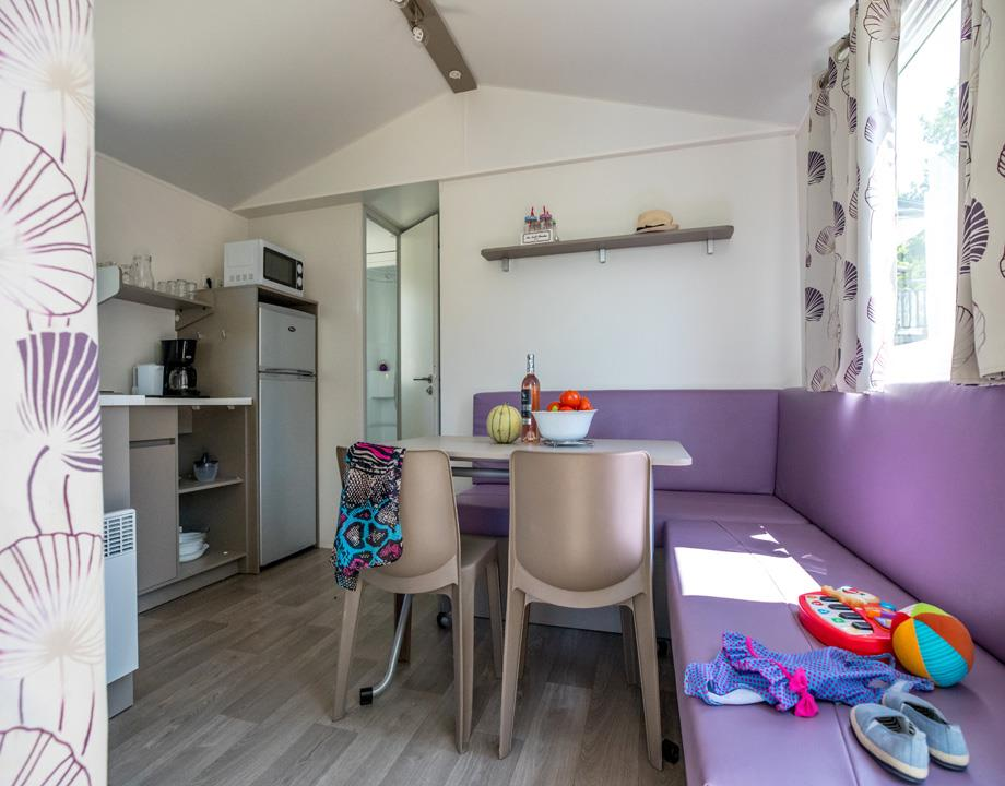 Accommodation - Mobile-Home Ciela Confort - 33M² - 3 Bedrooms - Air Conditioning - Tv - Camping Le Pommier