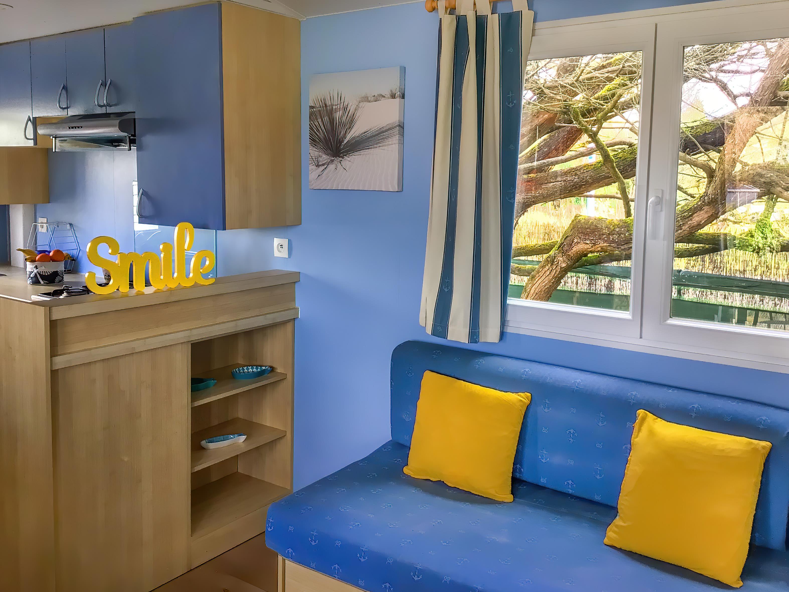 Location - Mobilhome 2 Chambres Confort + Avec Loggia - Camping Le Moulin des Oies