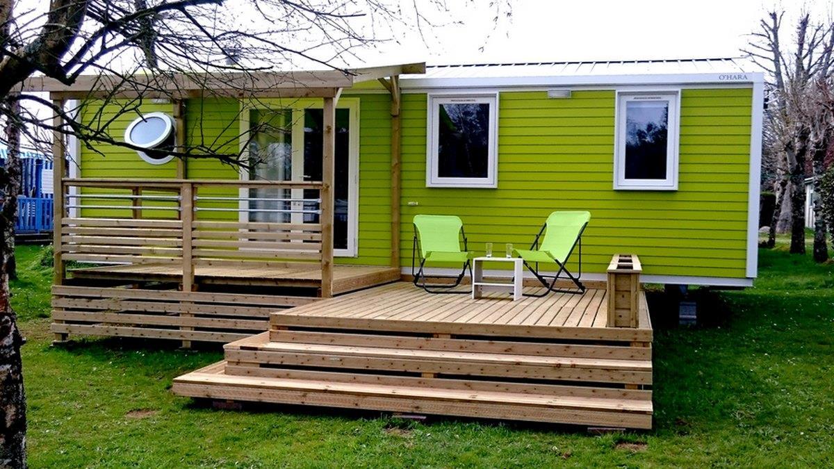Location - Mobil-Home Atena Premium 32M² (3 Chambres) + Terrasse Couverte 16M² - - Camping de Kerleyou