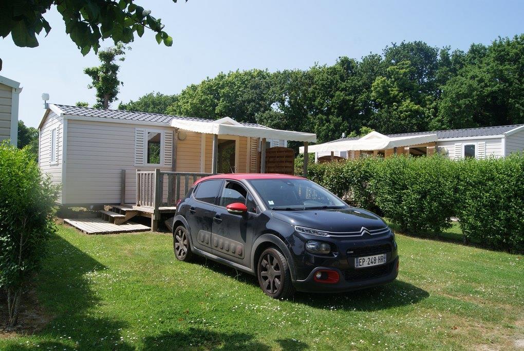 Location - Mobil-Home Oceane Confort 27M² (2 Chambres) + Terrasse De 8 À 13M² Semi-Couverte (Dimanche) - Camping de Kerleyou