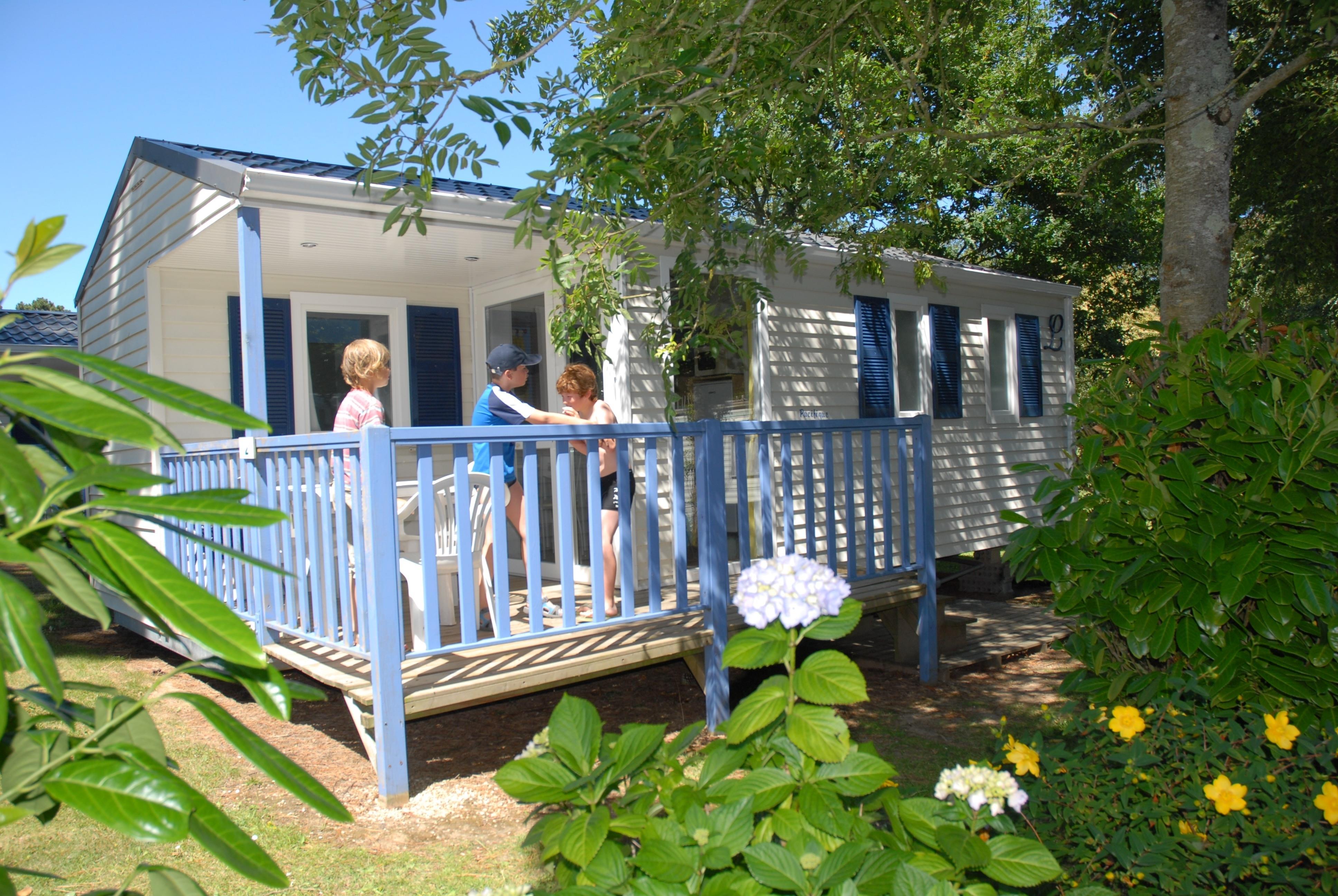 Location - Mobil Home Detente Confort 26M² (2 Chambres) + Terrasse De 8 À 13M² Semi-Couverte -S - Camping de Kerleyou