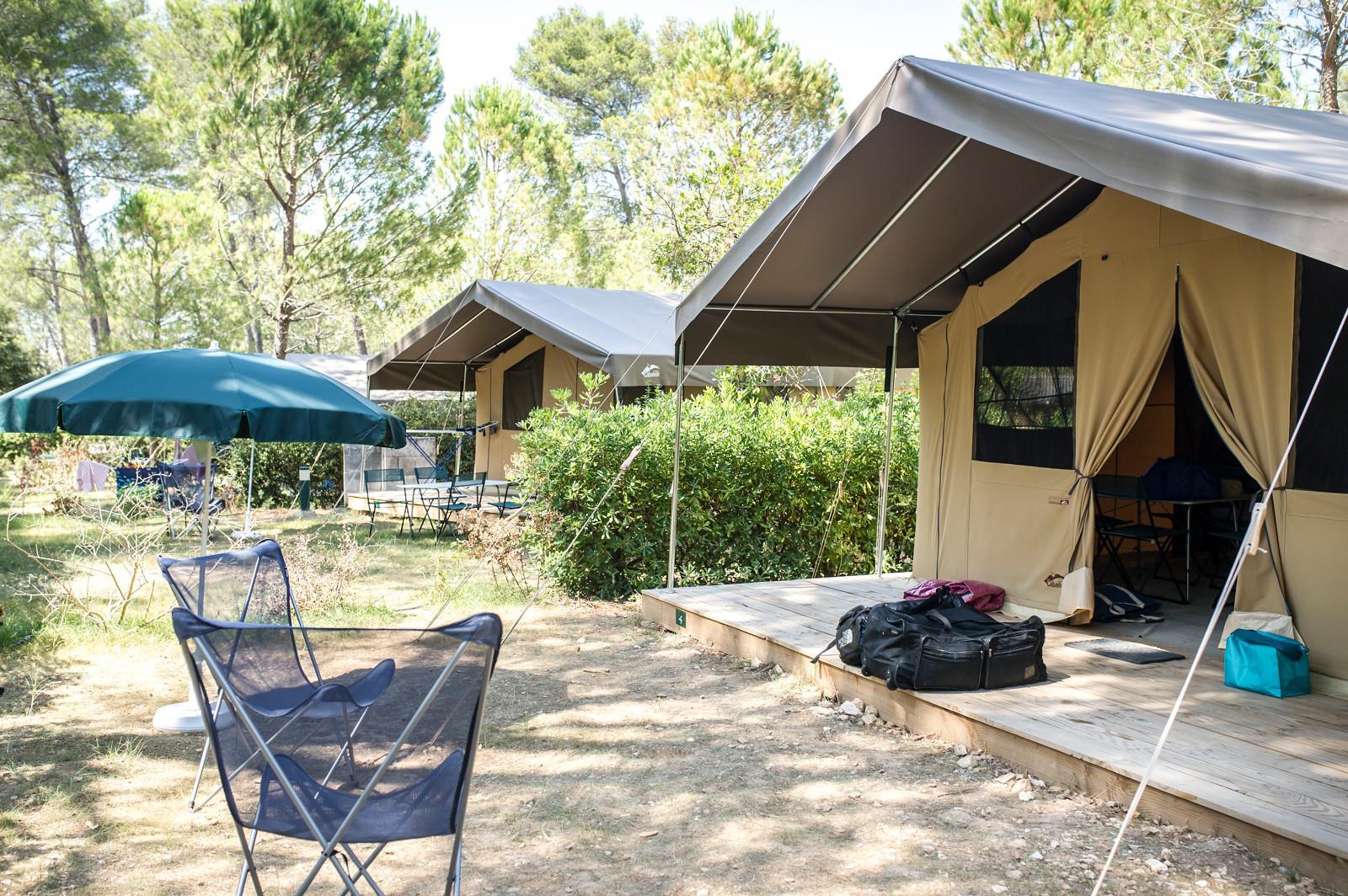 Location - Tente Toile & Bois Sweet + - Huttopia Fontvieille