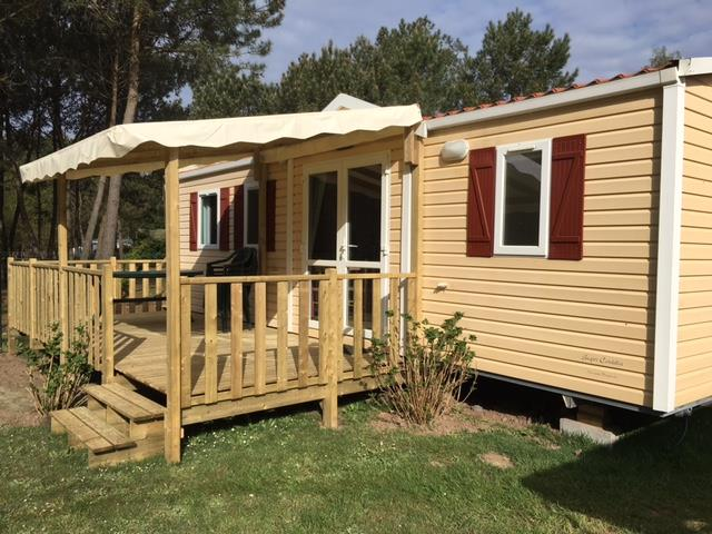 Location - Classic35-3 (Mobil-Home Cordelia) - Tv, 3 Chambres, Environ 35M² - Camping Les Bruyères
