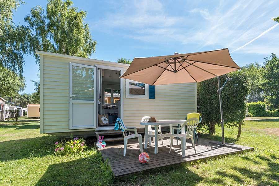Location - Mini 18-2 (Bambi) - Sans Sanitaire, 2 Chambres, Environ 18M² - Camping Les Bruyères