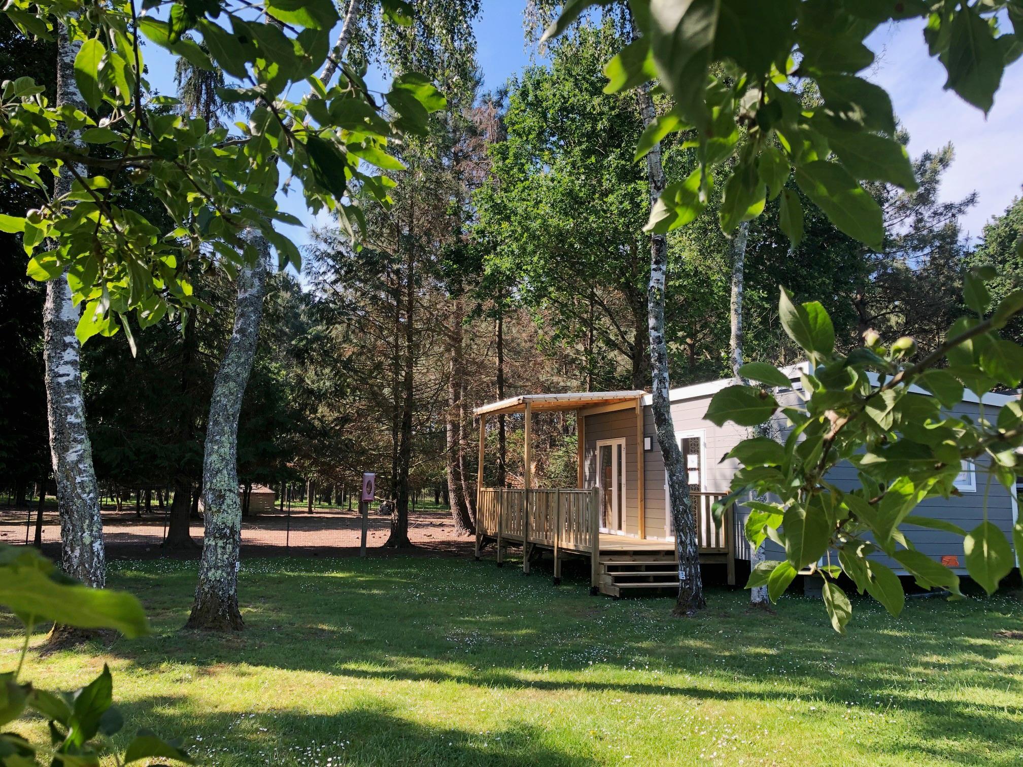 Location - Confort 30-2 (Mobil-Home) - Tv, 2 Chambres, Environ 30M² Nouveau - Camping Les Bruyères