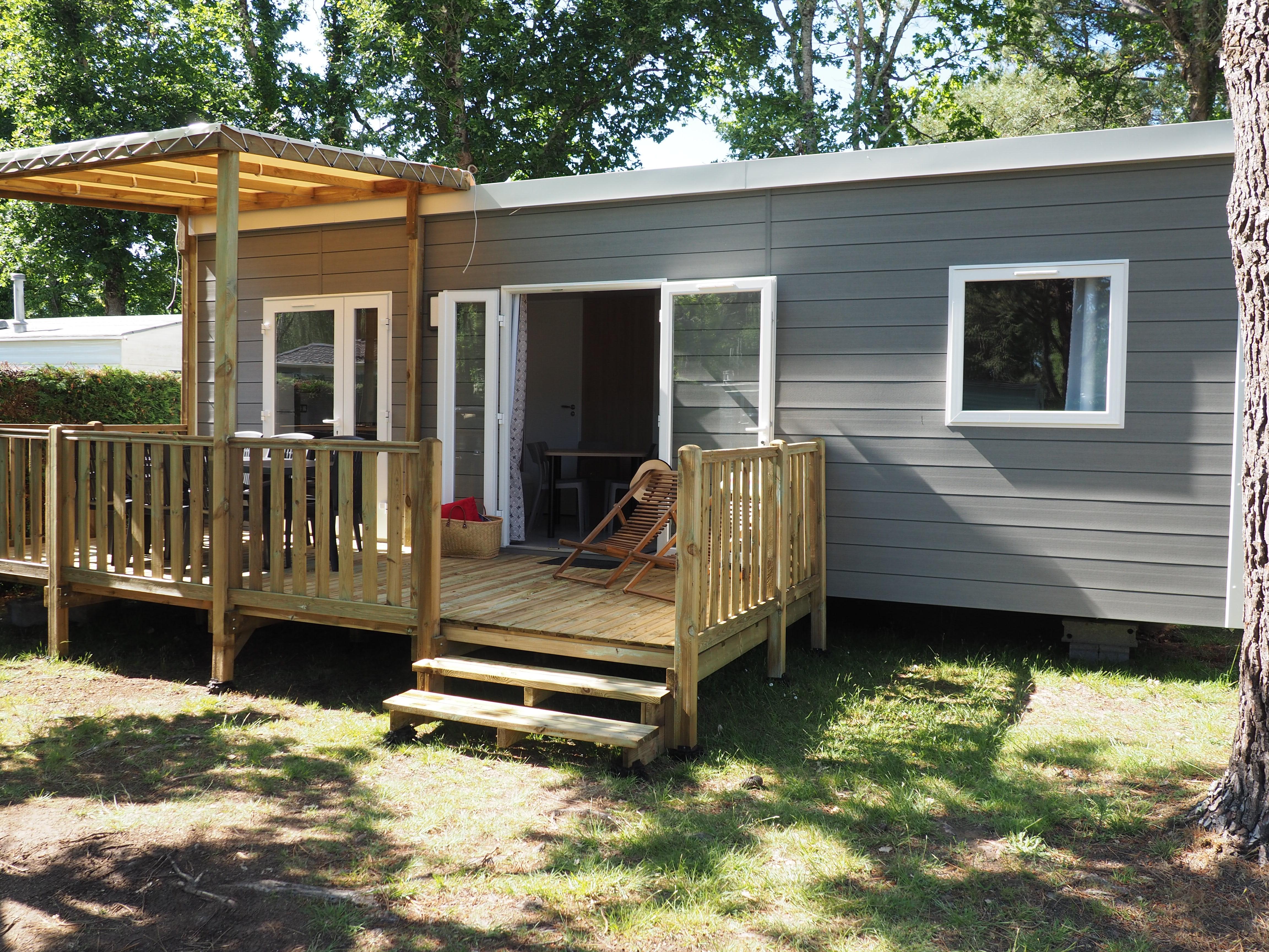 Location - Confort 34-3 - 3 Chambres , Tv, Environ 34M²    Nouveau - Camping Les Bruyères