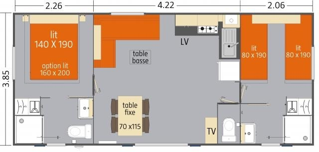 Cottage Vip Luxe Le Brochet 2 Chambres