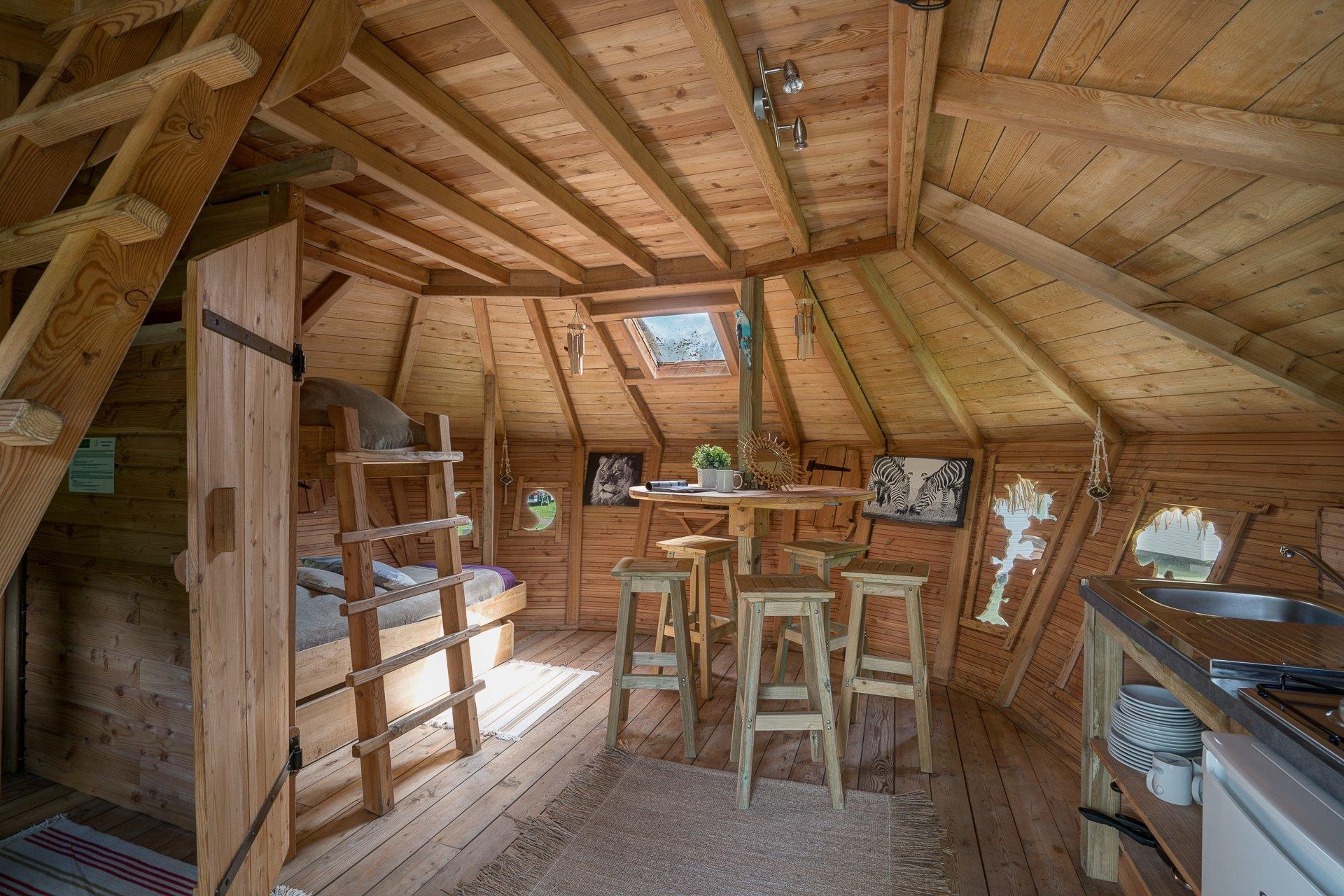 Location - Cabane Savana 2 Chambres - Camping Sandaya Paris Maisons-Laffitte