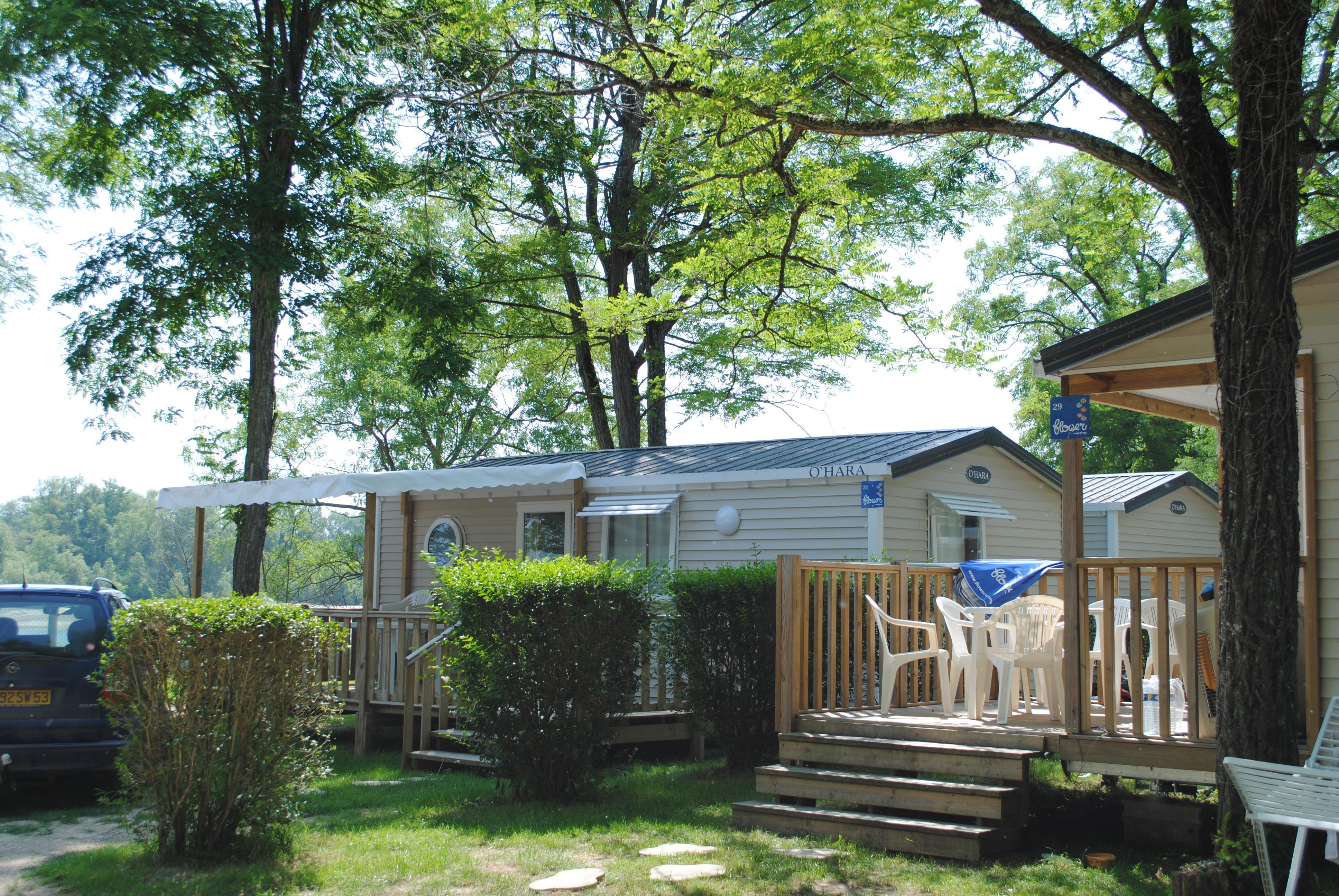 Location - Mobil Home Confort+ 27M² (2 Chambres) + Terrasse Semi-Couverte 18M² Avec Vue Sur Loire - Camping Les Portes de Sancerre