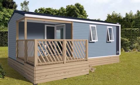 Location - Mobil-Home Les Embruns : 22.50M² + 6.70M² De Terrasse Semi-Couverte (2 Chambres) - Camping Au Port-Punay