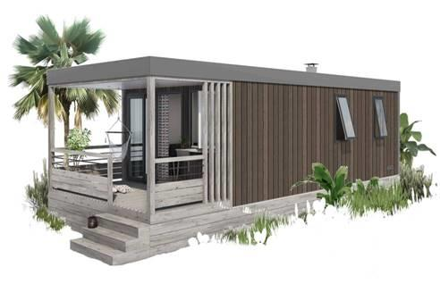 Location - Cottage Le Ponton  4 Pers Premium: 28M² + Terrasse De 7.80M² Entièrement Couverte (2 Chambres) - Camping Au Port-Punay