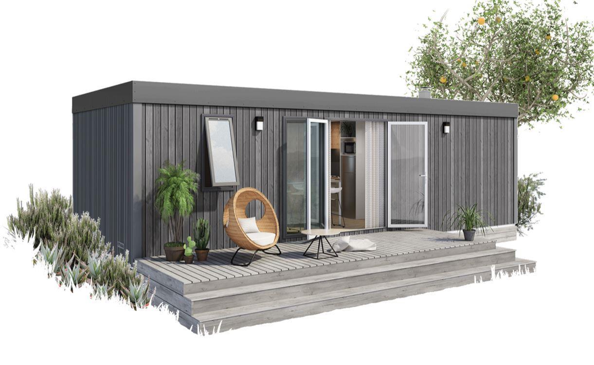 Location - Mobil-Home Les Cordées 4/6 Pers Premium: 35.30M² + 15 M² De Terrasse Non Couverte (3 Chambres) - Camping Au Port-Punay