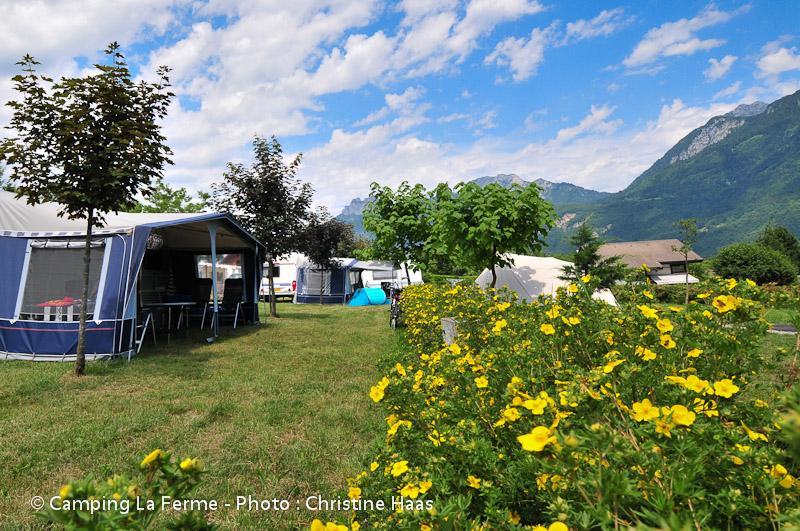 Camping la Ferme, Lathuile, Haute-Savoie