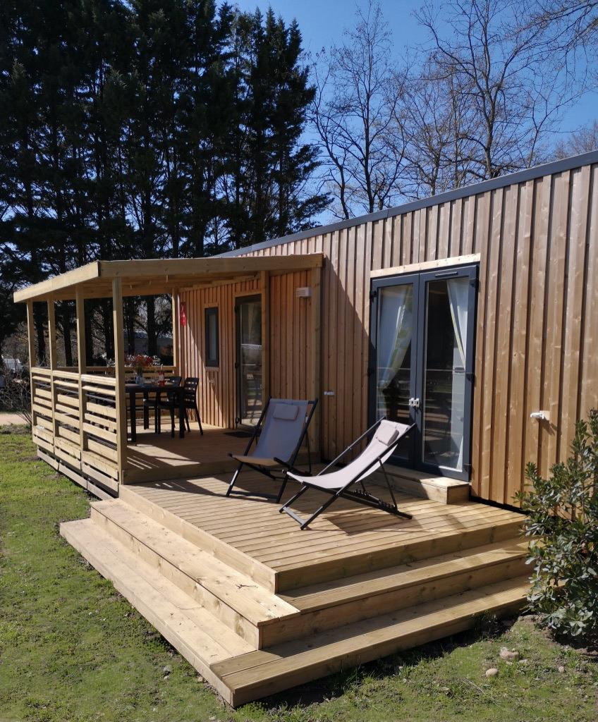 Campbell Premium Mobil-home climatisation + lave-vaiselle + TV  34m² (2 chambres)
