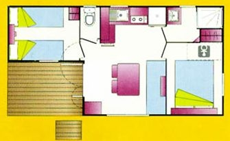 Mobilhome Famille Plus -30.4m² - 2 chambres - climatisation