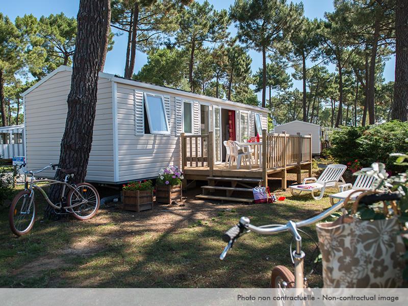 Location - Mobil Home Elégance 3 Chambres Terrasse Et Climatisation - Camping La Pignade