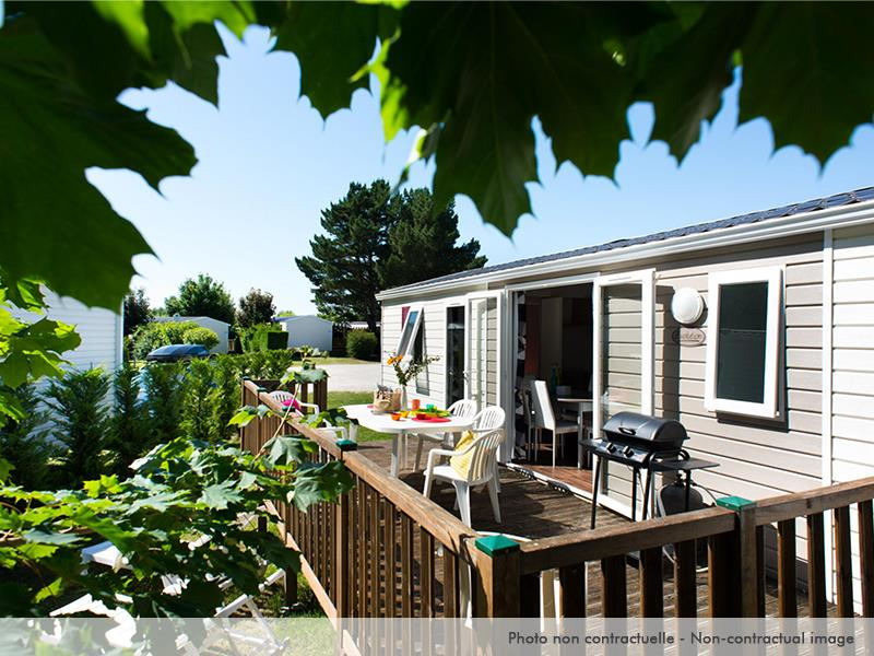 Location - Mobil Home Excellence 4 Chambres Terrasse Et Climatisation - Camping La Pignade