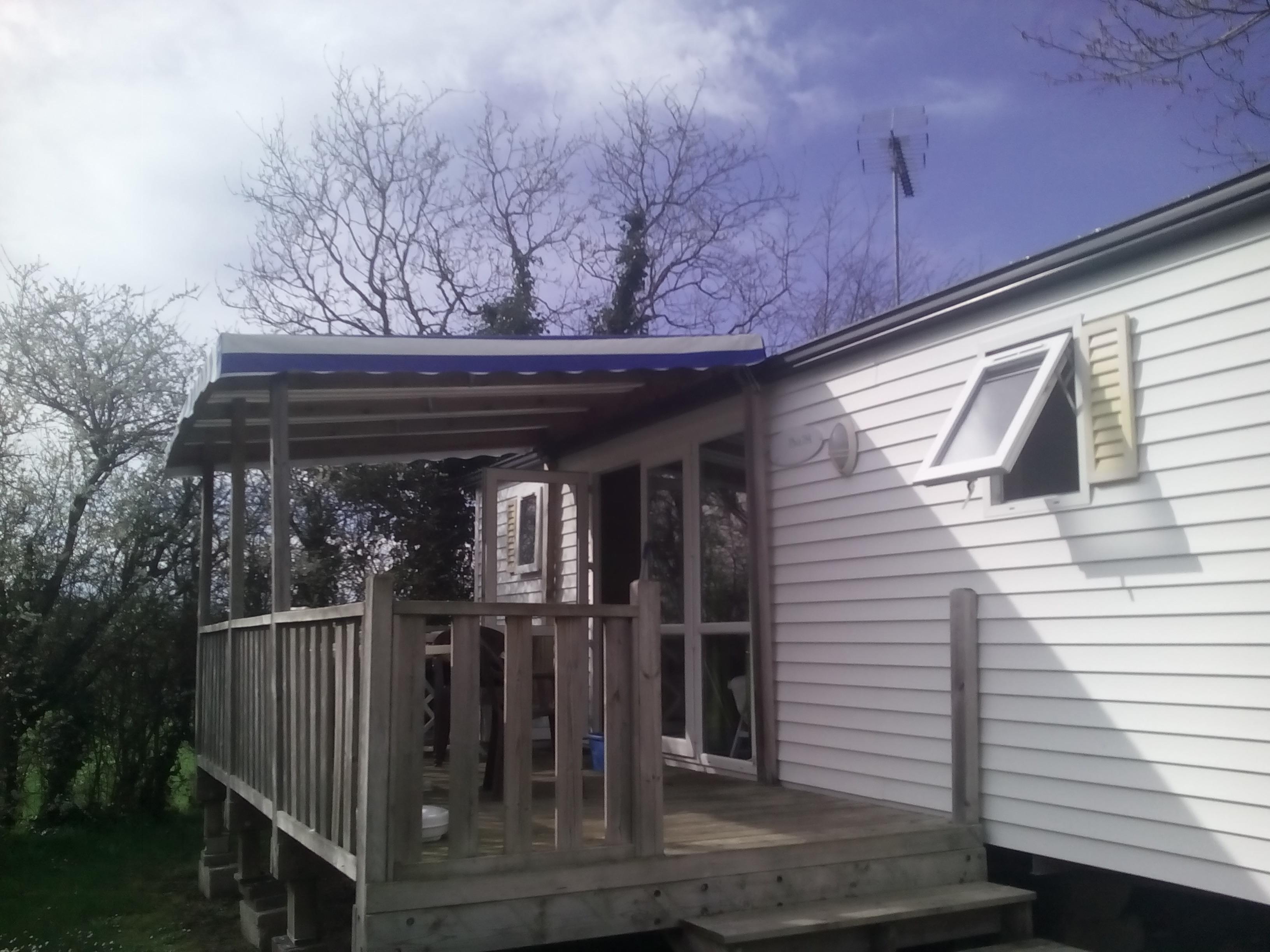 Mobil home T3 + terrasse couverte