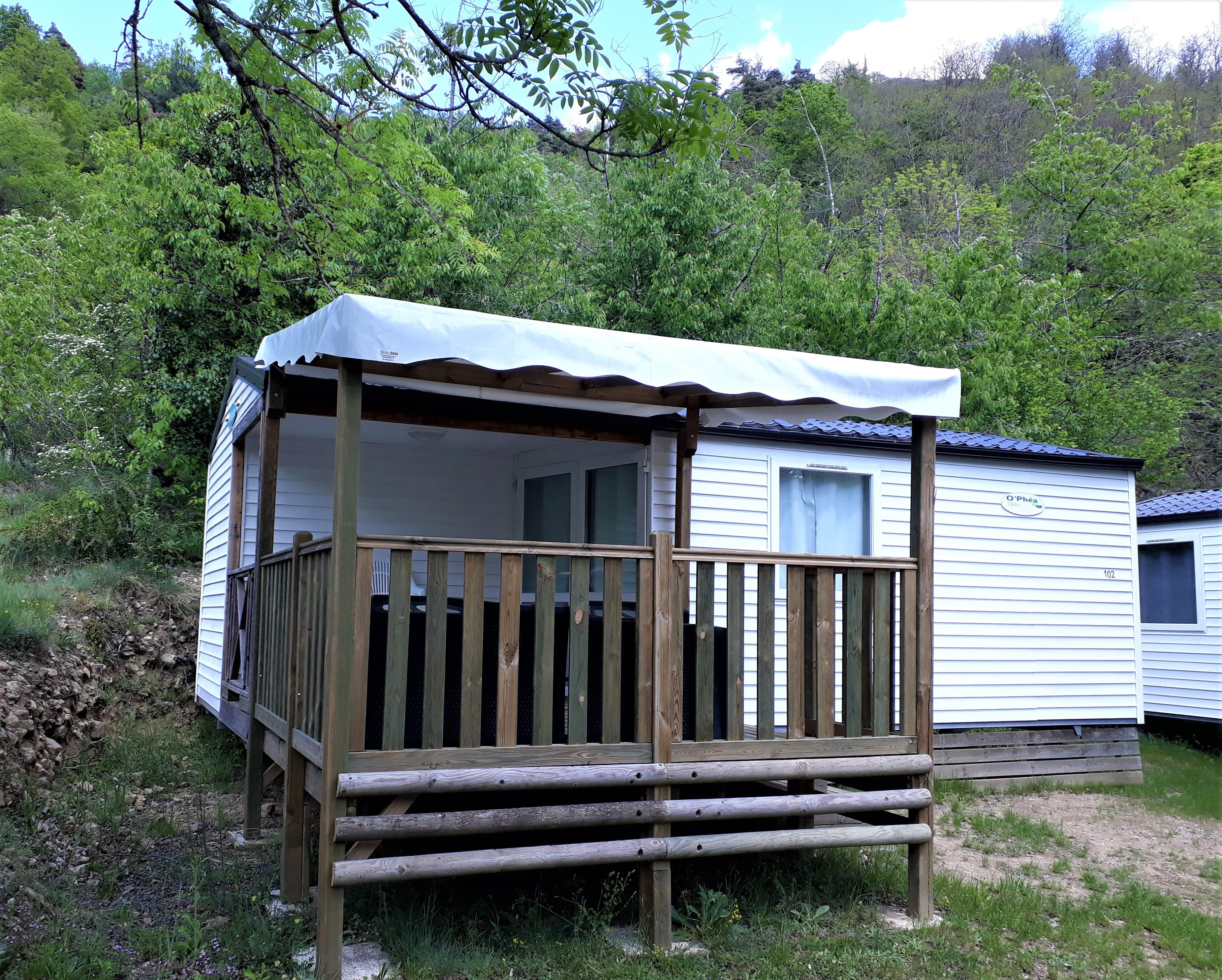 Location - Mobile Home Loggia+ - Camping de Retourtour