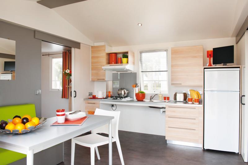 Location - Mobil-Home 25M² (2 Chambres) - Accès Handicapé - Camping du Lac de Saint-Cyr
