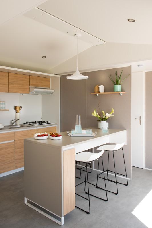 Location - Mobil-Home 28M² (2 Chambres) + Grande Terrasse Semi-Couverte De 18M2 - Camping du Lac de Saint-Cyr