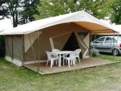 Huuraccommodatie - Bungalow Toilé Canada N°1 - Camping Les Acacias