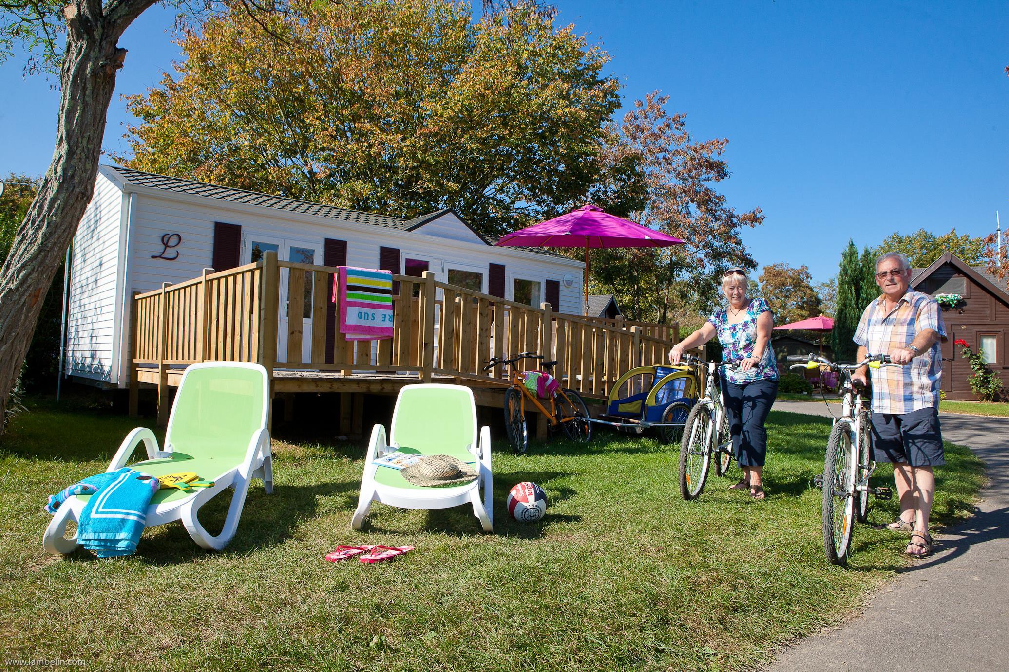 Location - Mobil-Home Pmr - Pour Personnes À Mobilité Réduite 2 Chambres - Camping Domaine du Logis