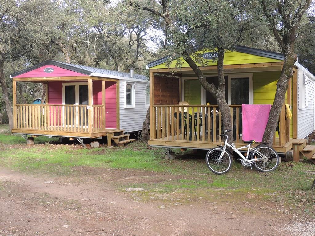 Location - Mobil-Home Confort + Evasion 30M² (2 Chambres) - Terrasse Couverte Comprise Tv Incluse - Flower Camping Domaine de Gajan