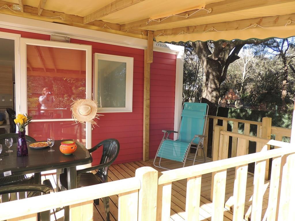 Location - Mobil-Home Confort + Life Pmr 32M²+Tv Incluse (2 Chambres) - Terrasse Couverte 15M² - Clim - Flower Camping Domaine de Gajan