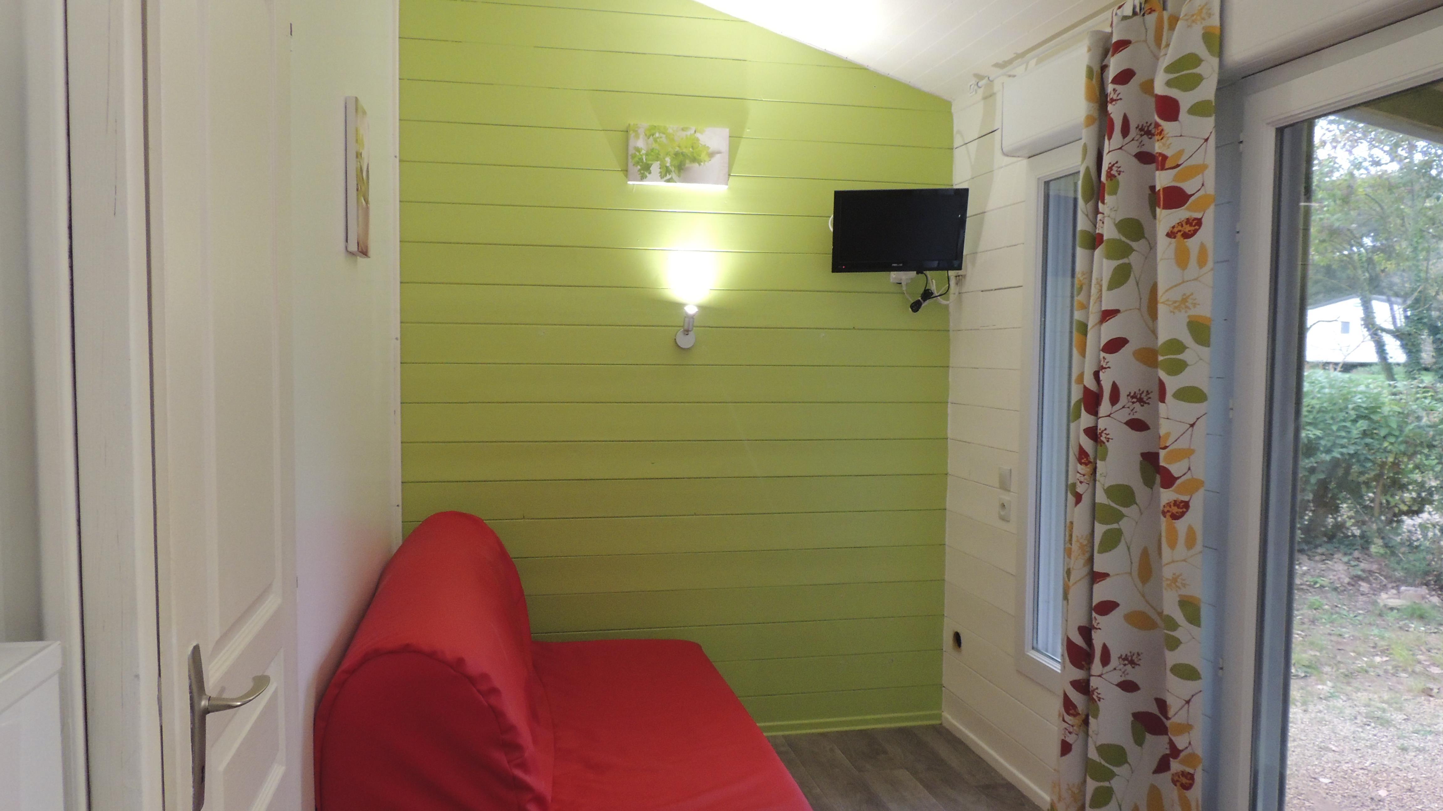 Location - Chalet Grand Confort + 27M² Climatisé (2 Chambres)/ Lave Vaisselle / Tv  Incluse / Climatisation- Terrasse Couverte 15M² - Flower Camping Domaine de Gajan