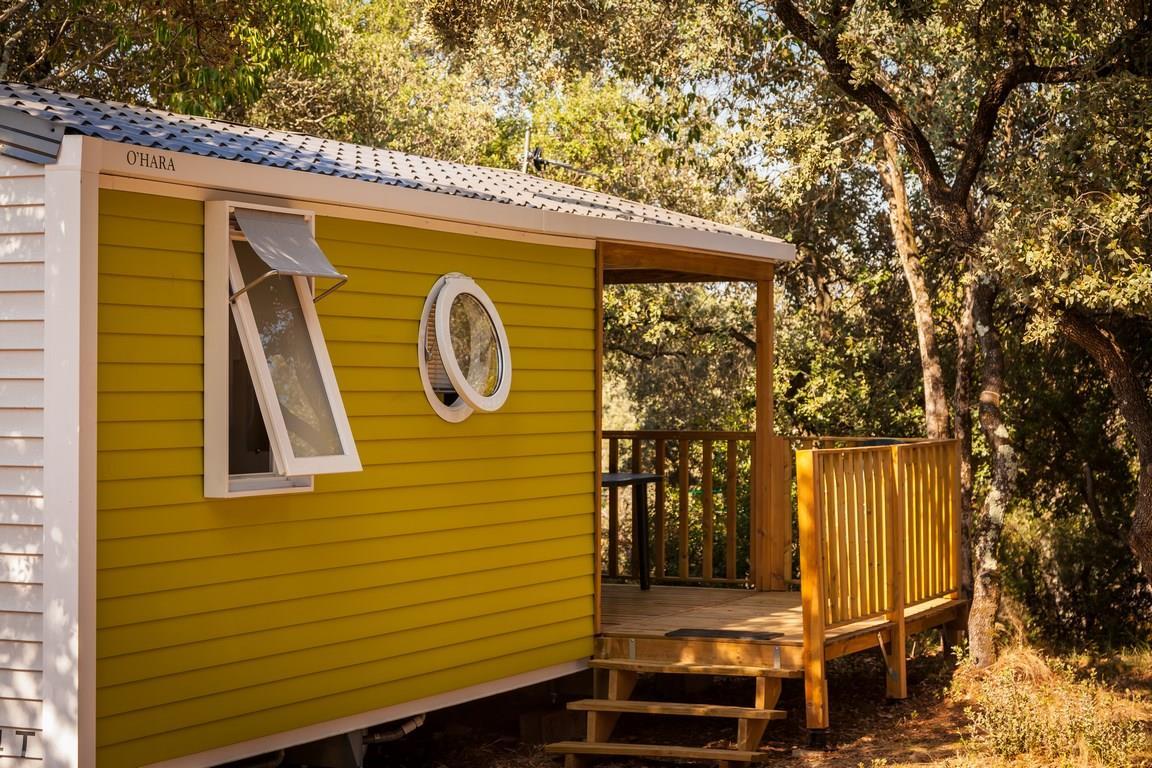 Location - Mobil-Home Confort + Sunny 20M² (2 Chambres) + Terrasse Couverte Comprise - Tv Incluse Arv/Départ Samedi - Flower Camping Domaine de Gajan