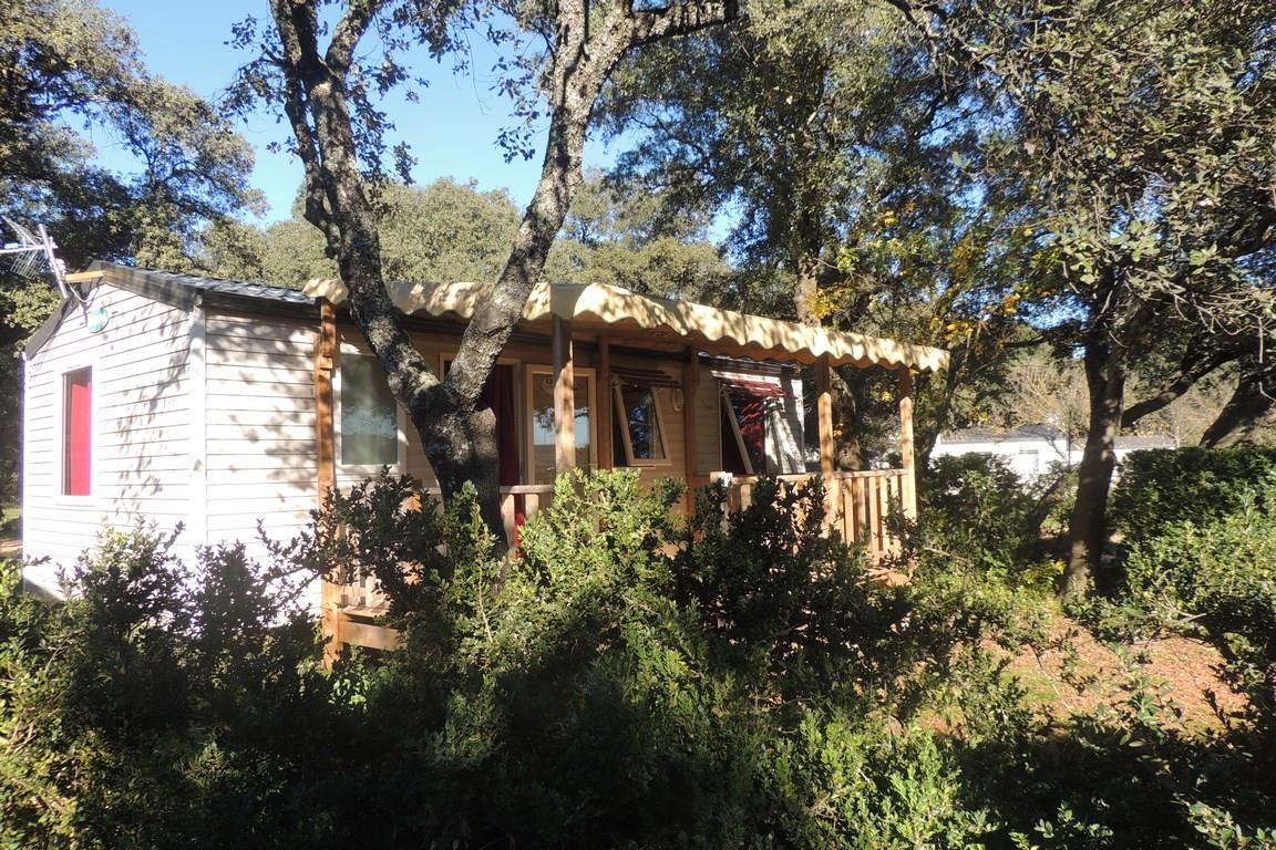 Location - Mobil-Home Confort Family Plus 32M² (3 Chambres) - Terrasse Couverte 15M² Tv Incluse Arv/Départ Samedi - Flower Camping Domaine de Gajan