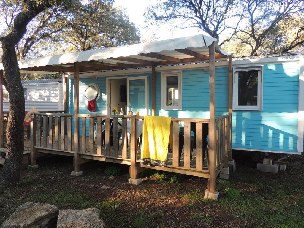 Location - Mobil-Home Confort Tribu 32M² Climatise (3 Chambres) - Terrasse Couverte 15M² Tv Incluse Arv/Départ Dimanche - Flower Camping Domaine de Gajan