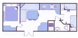 Mobilheim 2 Schlafzimmer  Vérona