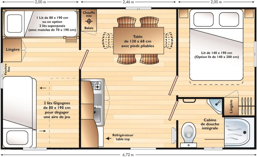 Mobil-Home 2 Chambres Domino Climatisation