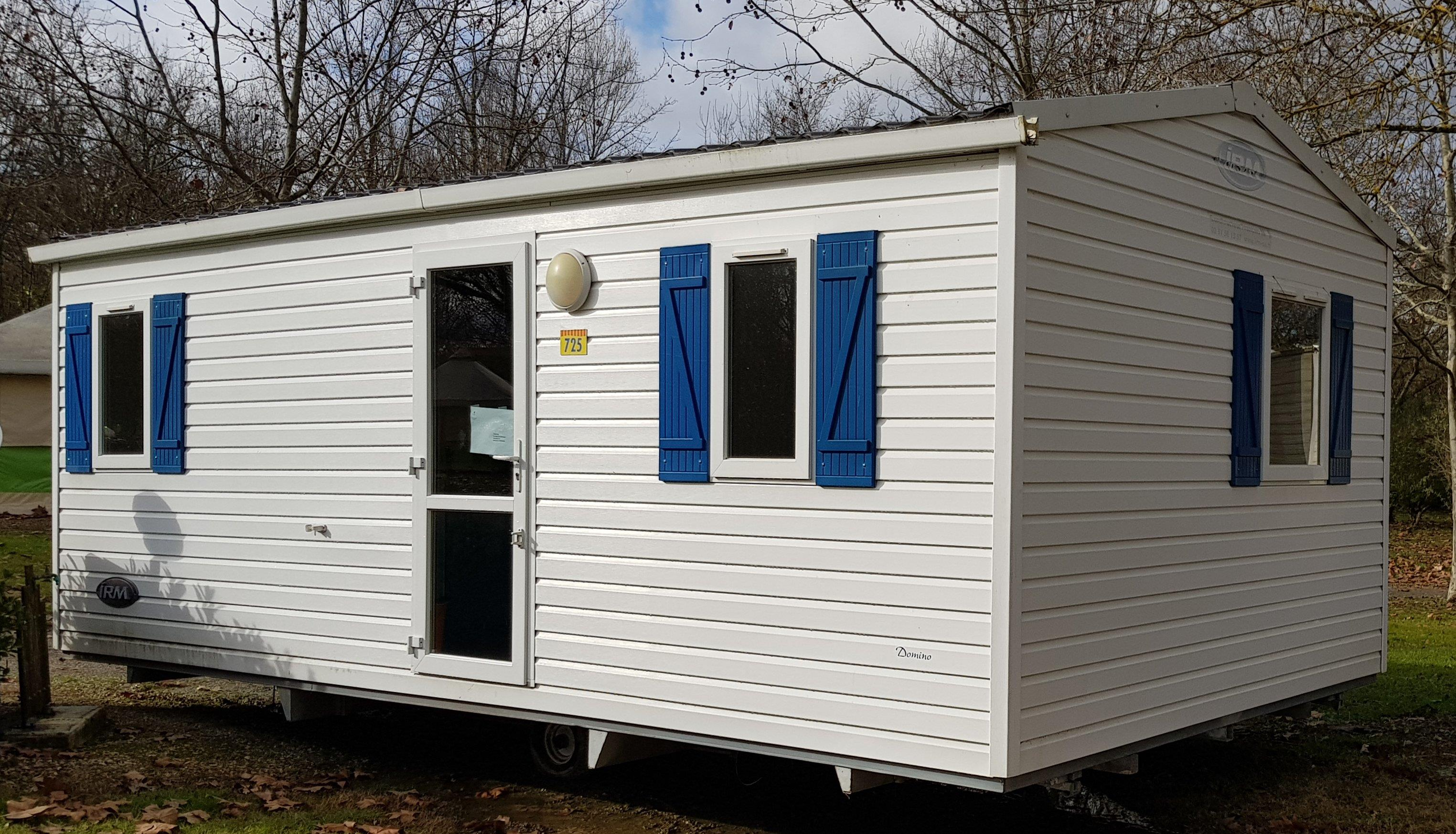 Location - Mobil-Home 2 Chambres Domino Climatisation - Camping La Plage de Verduzan