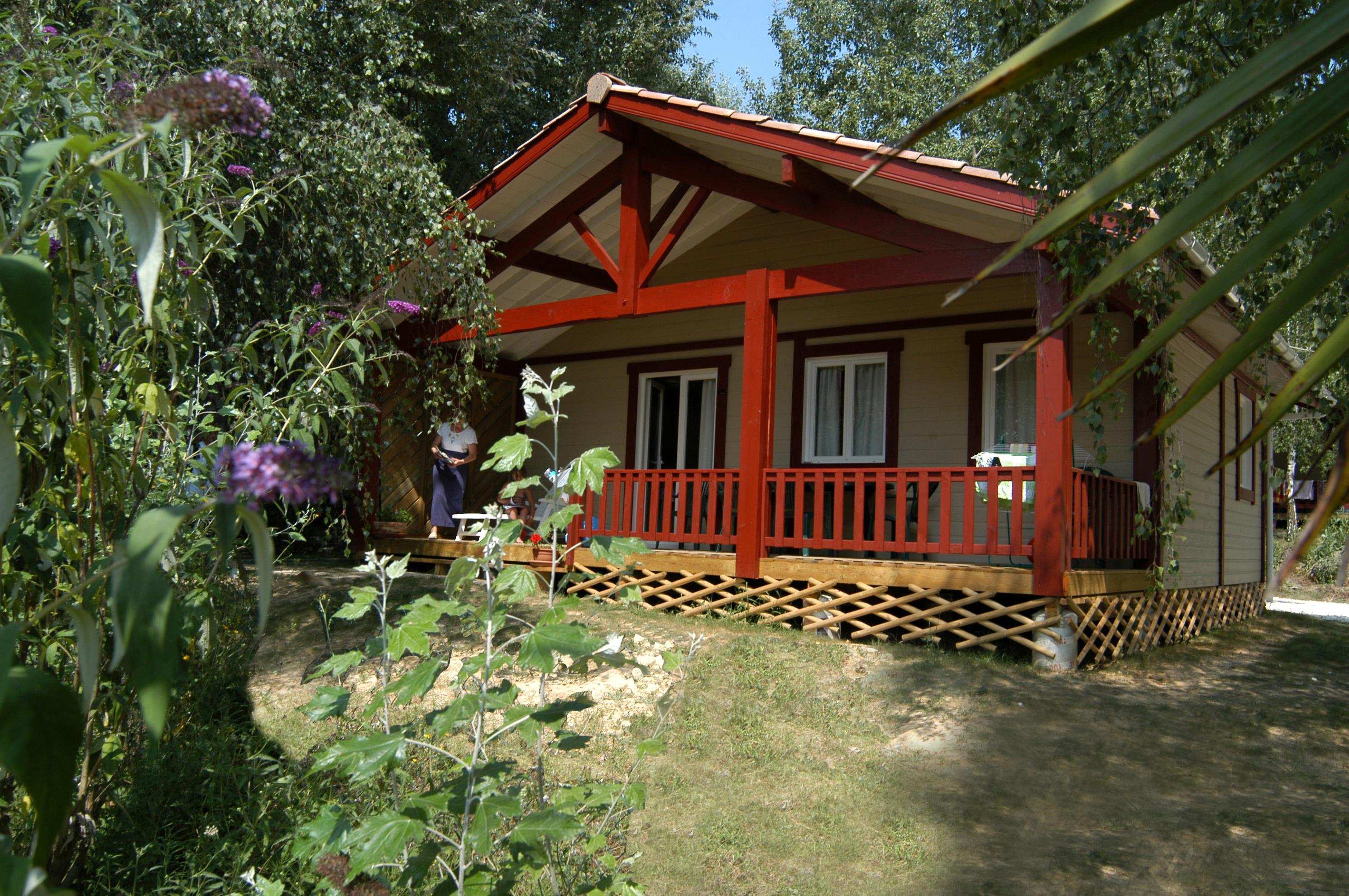 Location - Chalet Marensin 66 M² (3 Chambres) - Camping Les Lacs de Courtès