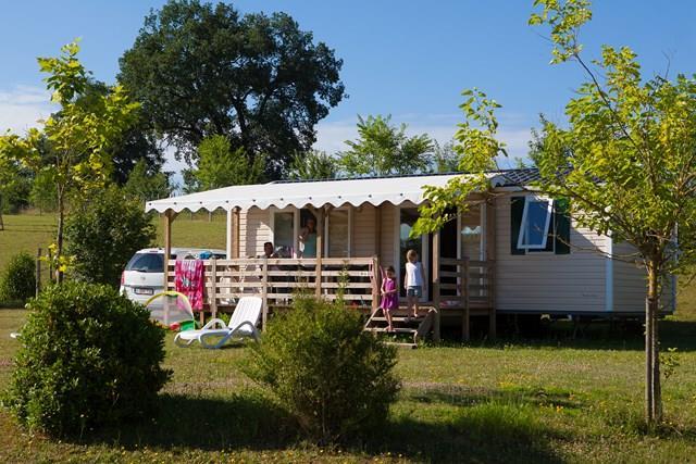 Location - Mobile Home Deluxe Riviera - 2 Chambres / 1 Salle De Bain - Camping Castel Le Camp de Florence
