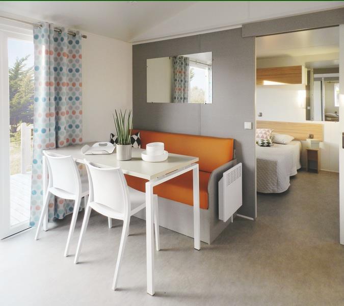 Location - Mobile Home - 2 Chambres - 1 Salle De Bain + Climatisation - Pmr - Camping Castel Le Camp de Florence