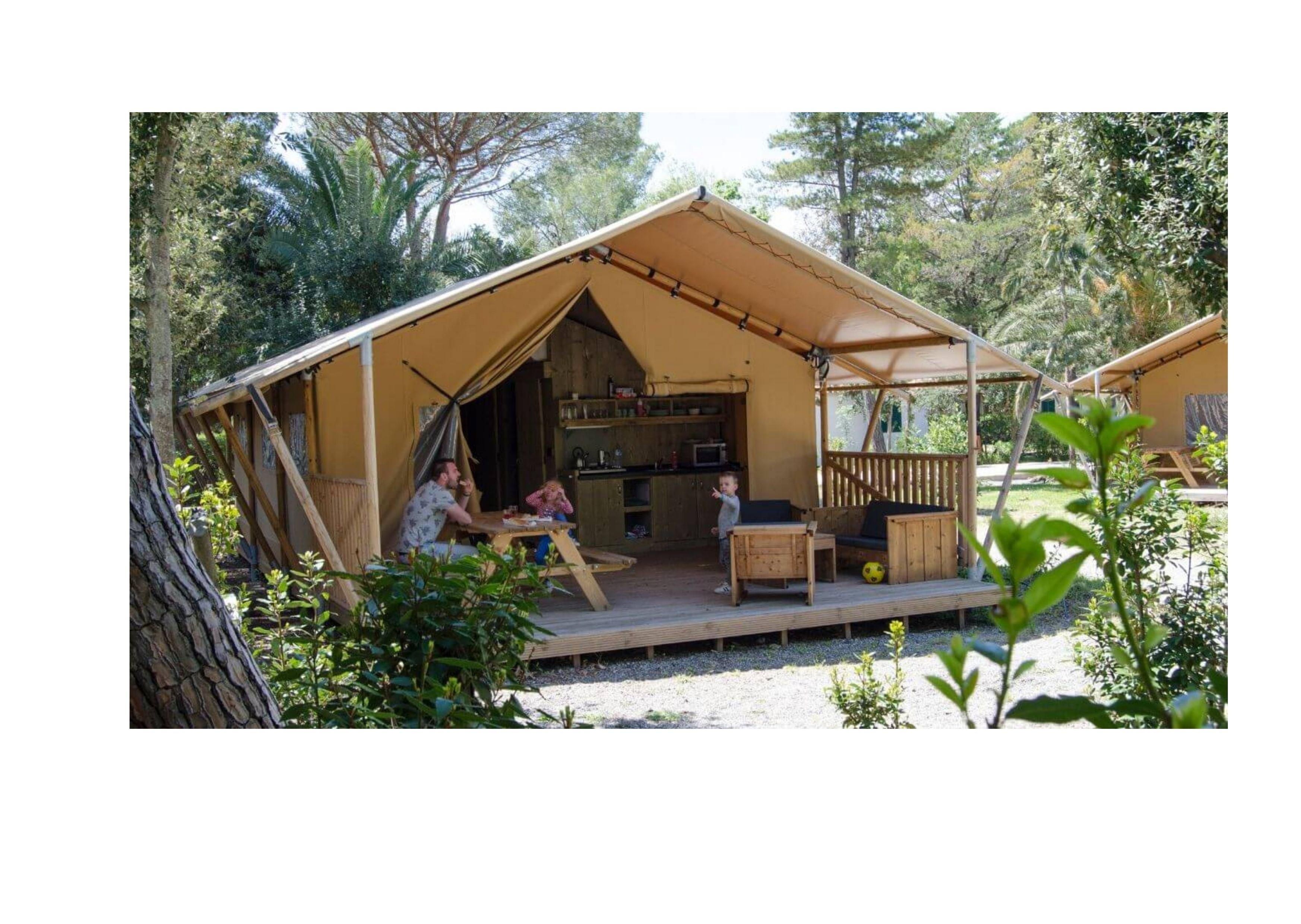 Location - Lodge Glamping Safari - Camping Castel Le Camp de Florence