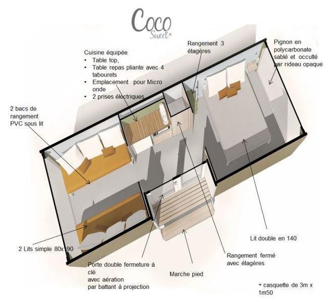 Location - Tente Coco Sweet ** 2 Chambres - Yelloh! Village Le Lac des Trois Vallées