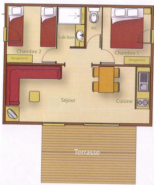 Location - Chalet Bois Confort + 35 M² (2 Chambres) + Terrasse Couverte - Camping du Lac