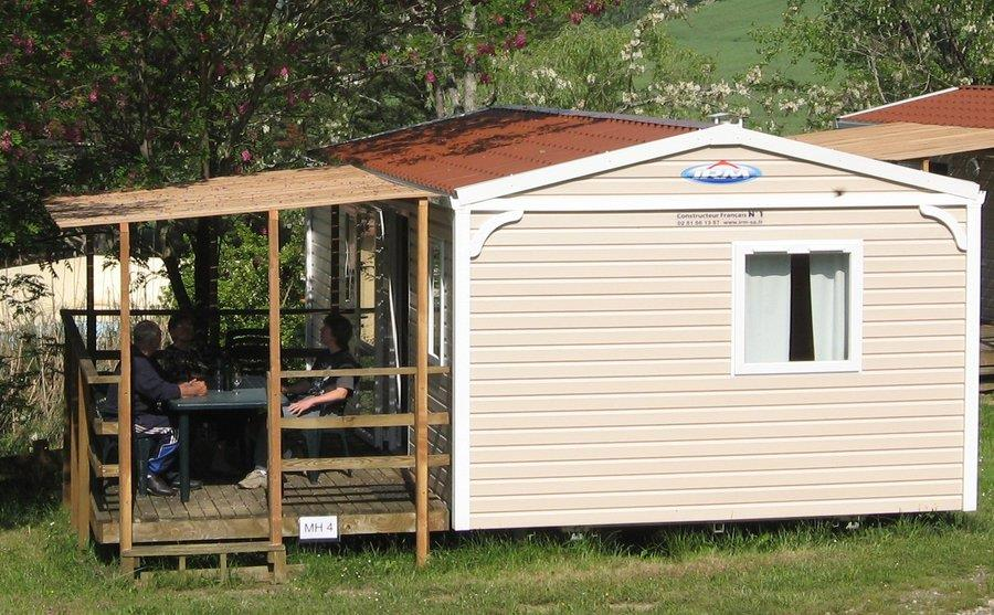 Location - Mobil Home Confort + 30M² (2 Chambres) + Terrasse Couverte - Camping du Lac