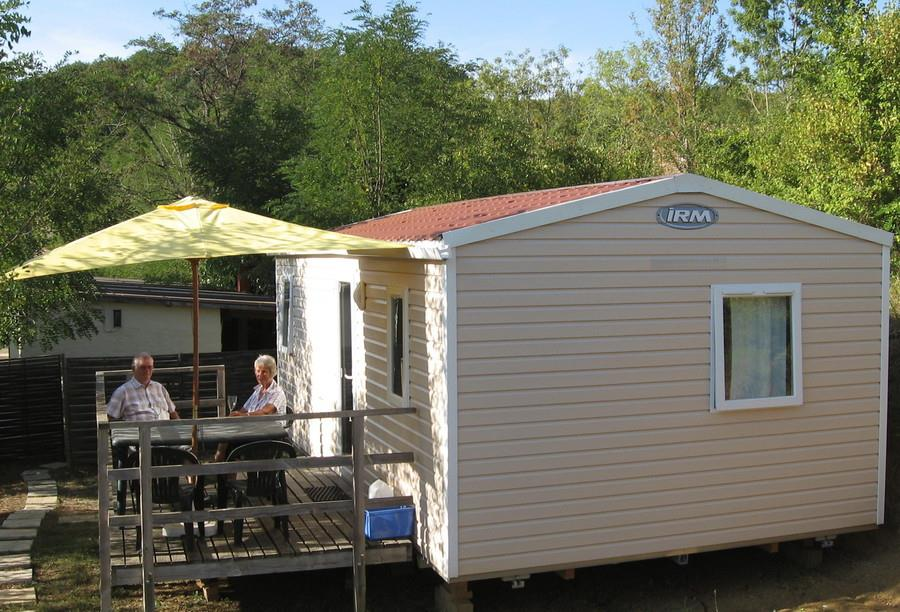 Location - Mobil Home Eco 25M² (2 Chambres) + Terrasse - Sans Sdb - Camping du Lac