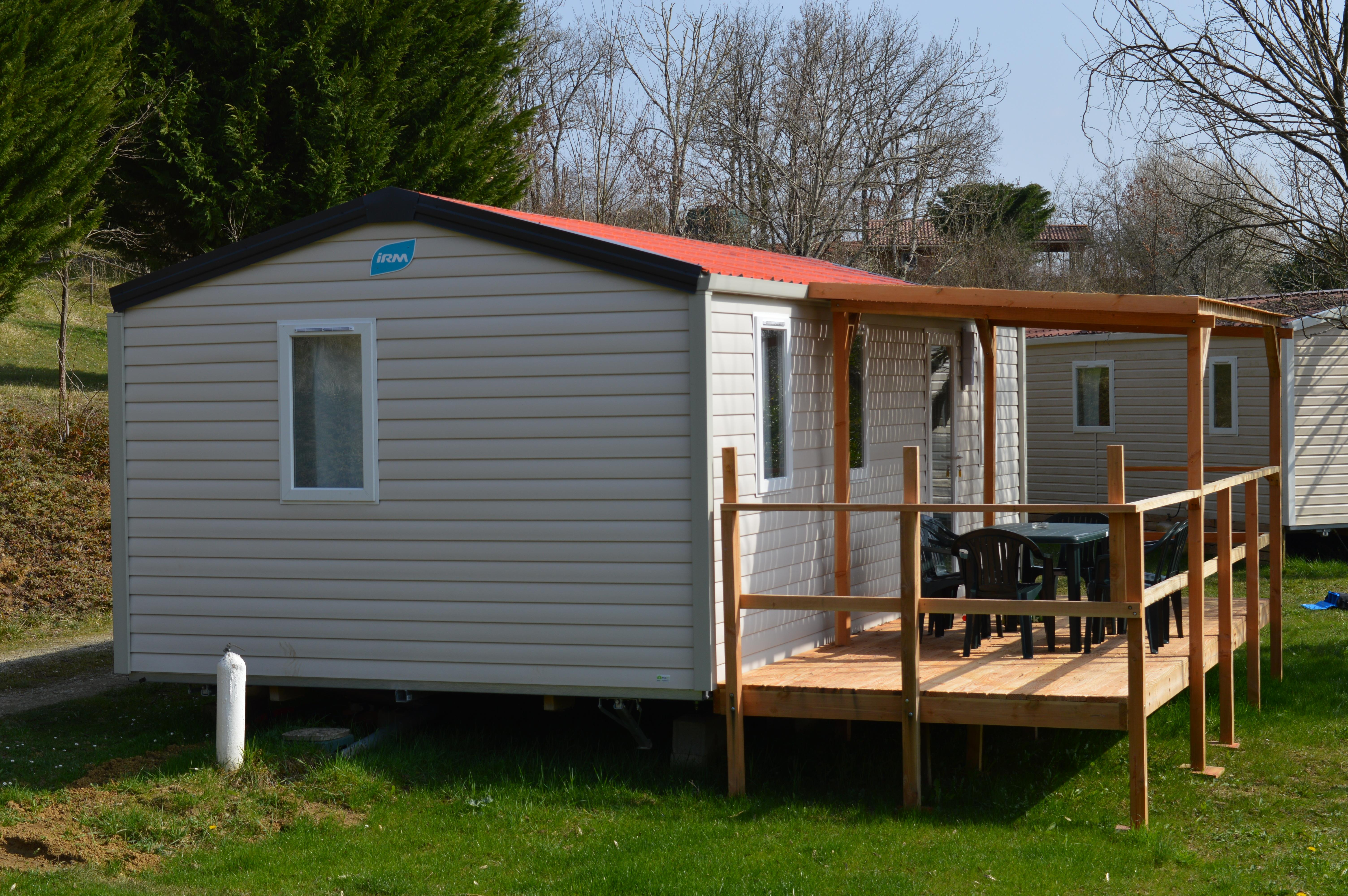 Location - Mobil Home Confort + 32M² (3 Chambres) + Terrasse Couverte - Camping du Lac