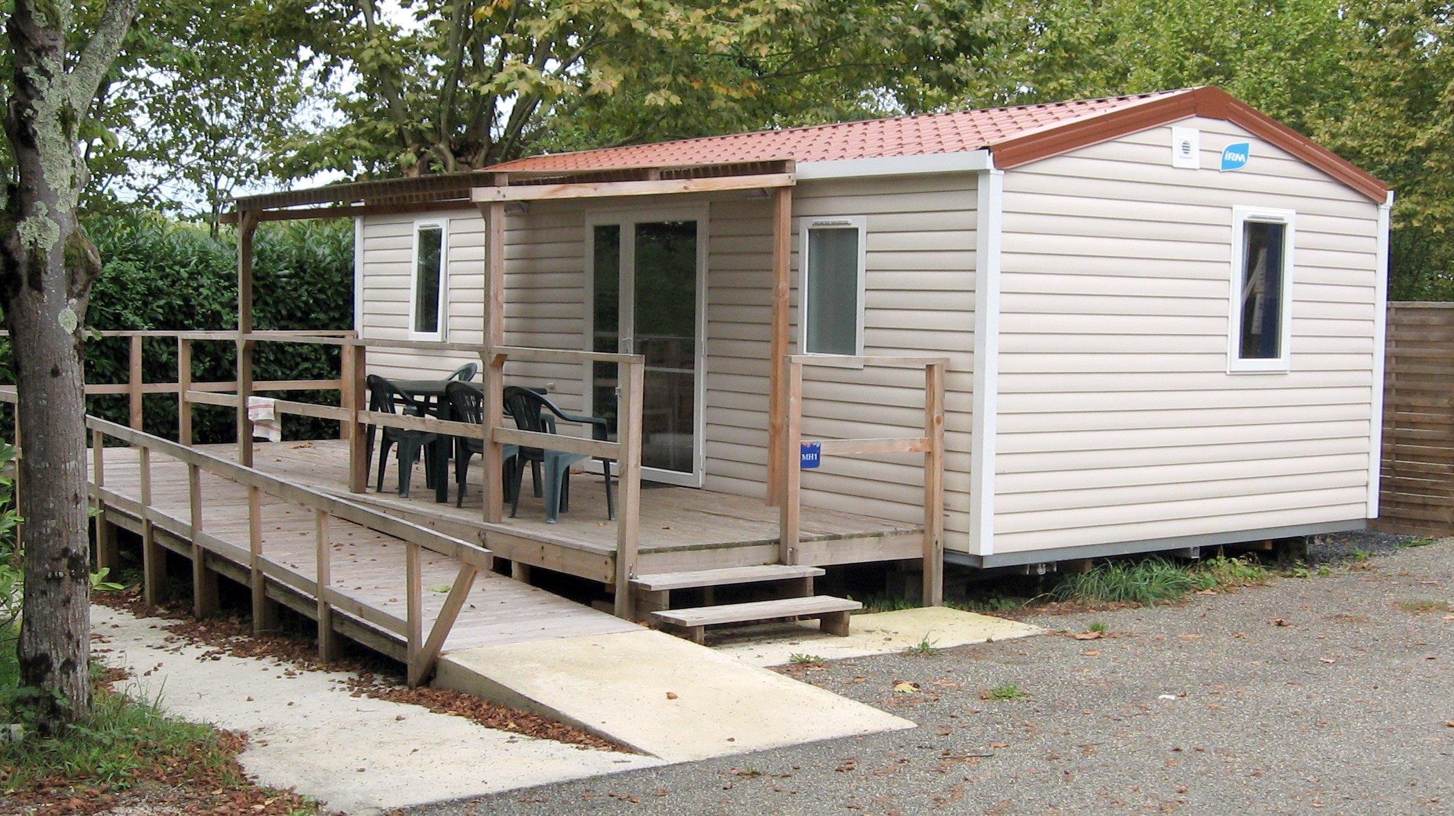 Location - Mobile Home Pmr Confort + 30M² (2 Chambres) + Terrasse Couverte - Camping du Lac