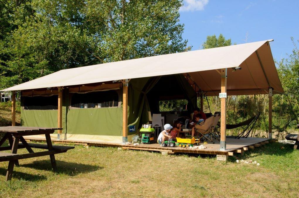 Location - Lodge 34 M2, Sans Sanitaire - Camping Sites et Paysages Aramis