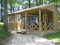 Location - Chalet Colibiri Avec Petite Terrasse Couverte - Camping Sites et Paysages Aramis