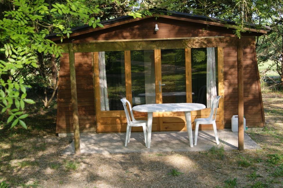 Location - Lodge Bois - Jusqu'à 4 Personnes - Camping Le Petit Lion des Tourbières